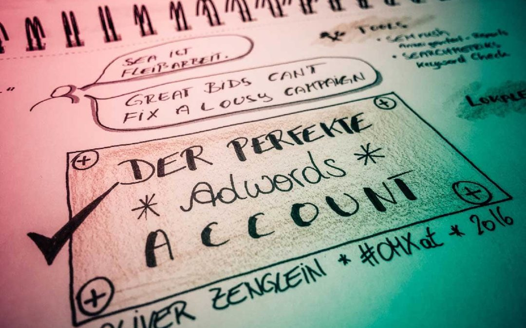 Der perfekte Adwords Account [sketchnote] #OMXat