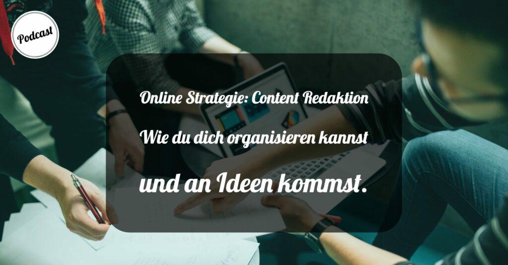 Online Strategie - Content Redaktion